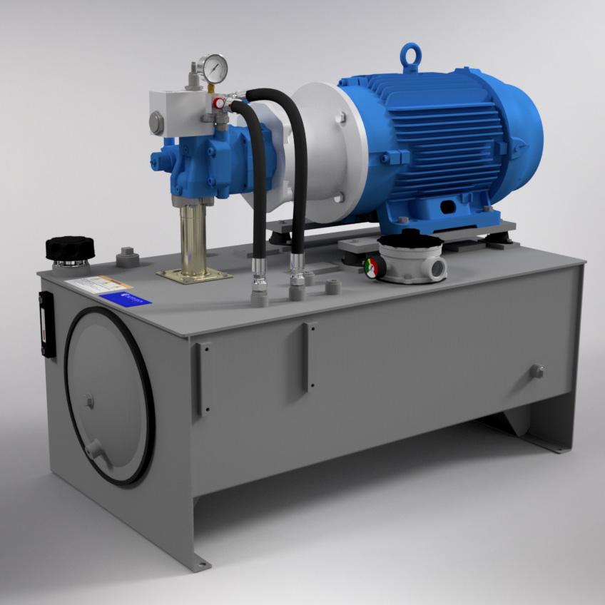 40 HP High-Pressure Hydraulic Power Unit