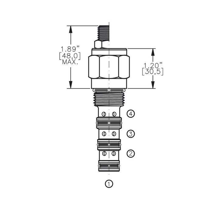 Bucher DCPS-10-C 3-way Directional Control Valve, Spool Type C