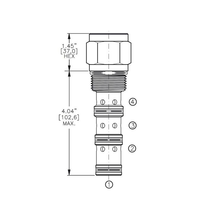 Bucher DCPS-16-B 3-way Directional Control Valve, Spool Type B