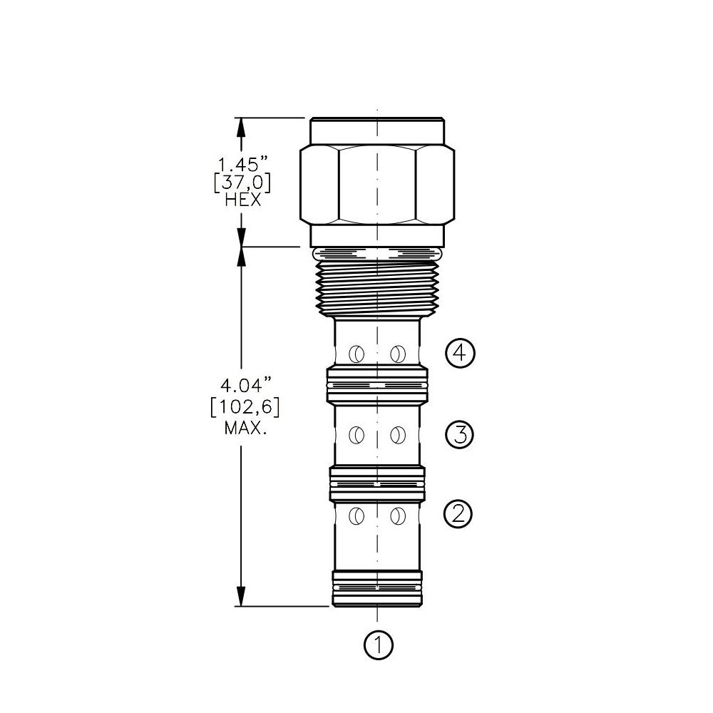 Bucher DCPS-16-C 3-way Directional Control Valve, Spool Type C
