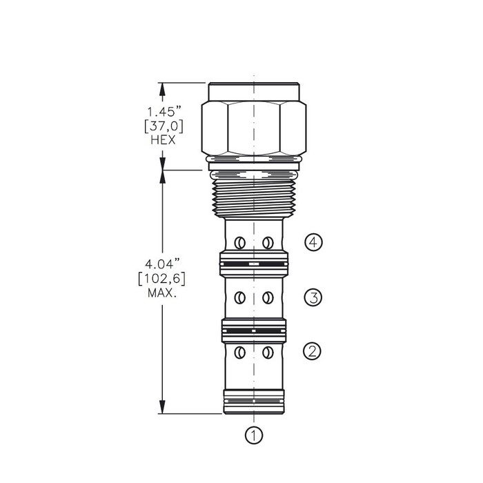 Bucher DCPS-16-E 3-way Directional Control Valve, Spool Type E